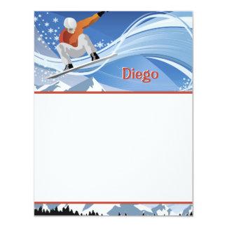 Efectos de escritorio del Snowboarder Comunicados Personalizados