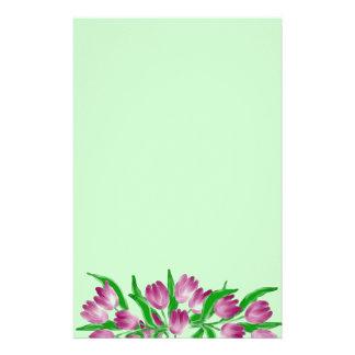 Efectos de escritorio del tiempo del tulipán papelería personalizada