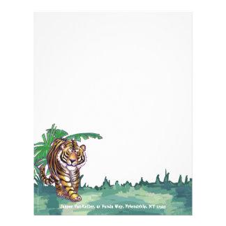 Efectos de escritorio del tigre plantillas de membrete