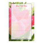 Efectos de escritorio del tulipán papeleria de diseño