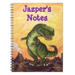Efectos de escritorio del Tyrannosaurus Libro De Apuntes Con Espiral