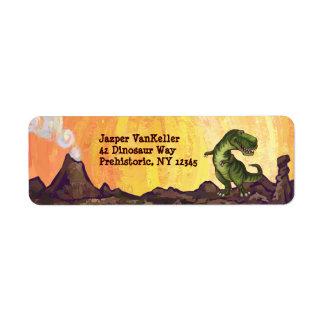 Efectos de escritorio del Tyrannosaurus Etiquetas De Remite