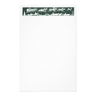 Efectos de escritorio del verde del día de fiesta  papeleria personalizada