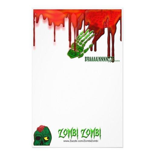 efectos de escritorio del zombi papelería personalizada