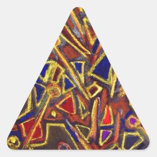 Efectos de escritorio dispersados (expresionismo pegatinas trianguladas