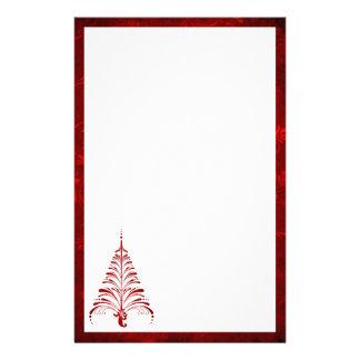 Efectos de escritorio elegantes del árbol de navid papelería personalizada