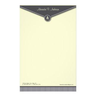 Efectos de escritorio elegantes del monograma del  papelería personalizada