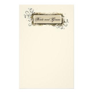 Efectos de escritorio florales abstractos del boda papelería de diseño