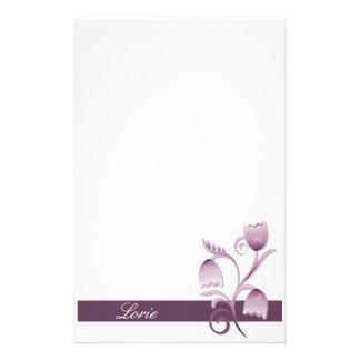 Efectos de escritorio florales del ciruelo papelería