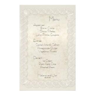 """Efectos de escritorio florales del menú del boda d folleto 5.5"""" x 8.5"""""""