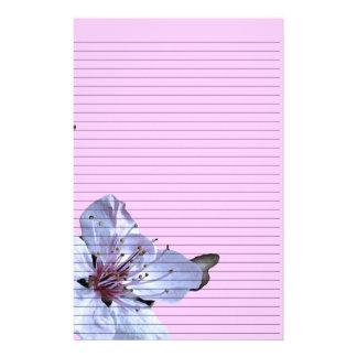 Efectos de escritorio florales - líneas opcionales  papeleria