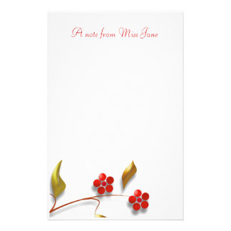 Efectos de escritorio florales románticos papeleria personalizada