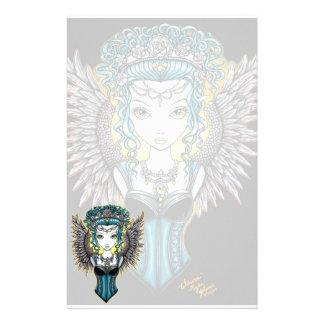 Efectos de escritorio góticos del ángel de guarda  papeleria de diseño