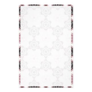 Efectos de escritorio grises y rosados papelería de diseño