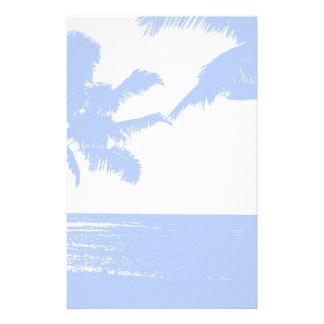 Efectos de escritorio hawaianos de la impresión personalized stationery