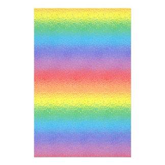 Efectos de escritorio helados del arco iris papeleria