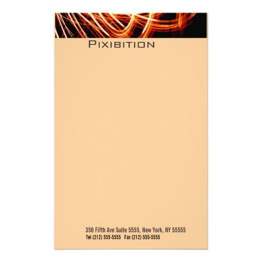 Efectos de escritorio ligeros del naranja de la pi papelería personalizada