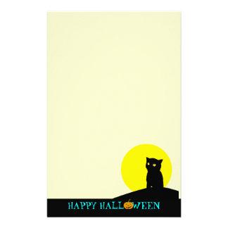 Efectos de escritorio lindos de Halloween: Gato ne Papelería Personalizada