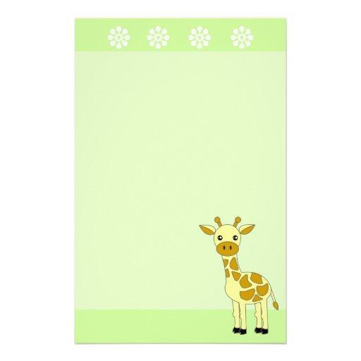 Efectos de escritorio lindos de la jirafa papeleria de diseño