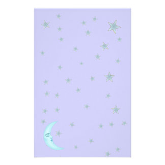 Efectos de escritorio lindos de la luna el dormir papelería