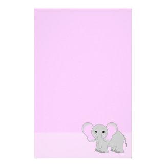 Efectos de escritorio lindos del elefante rosado papeleria personalizada