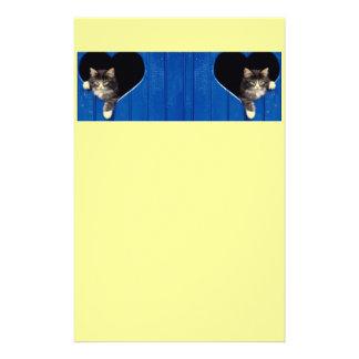 Efectos de escritorio lindos del gato del gatito papeleria personalizada