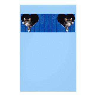 Efectos de escritorio lindos del gato del gatito personalized stationery