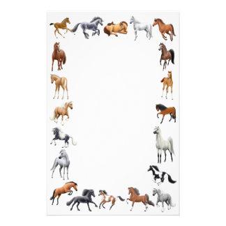 Efectos de escritorio locos del caballo papeleria personalizada