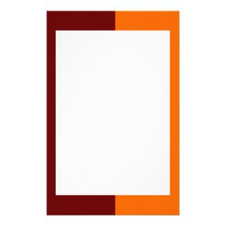 Efectos de escritorio marrón y anaranjados de la f papelería personalizada