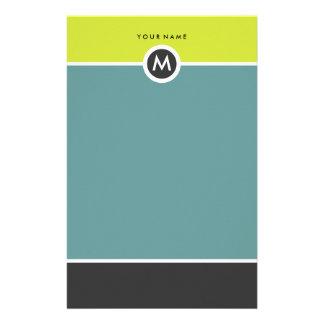 Efectos de escritorio modernos del monograma - papeleria de diseño