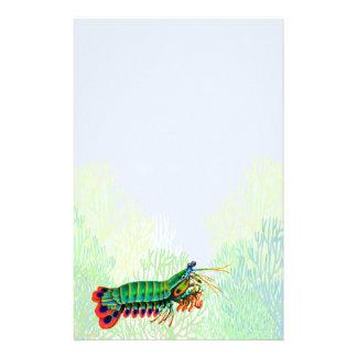 Efectos de escritorio pacíficos del camarón de pre papelería personalizada