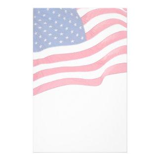 Efectos de escritorio patrióticos de la bandera de  papeleria de diseño