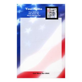 Efectos de escritorio patrióticos de la foto papelería de diseño