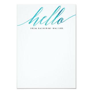 """Efectos de escritorio personales de la caligrafía invitación 3.5"""" x 5"""""""