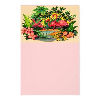 Efectos de escritorio personales de las flores de  papeleria
