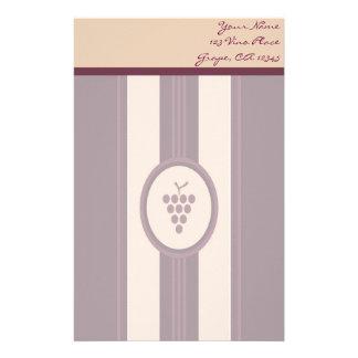 Efectos de escritorio personales del vino del papelería de diseño