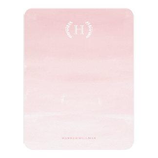 """Efectos de escritorio personales rosados de Ombre Invitación 4.25"""" X 5.5"""""""