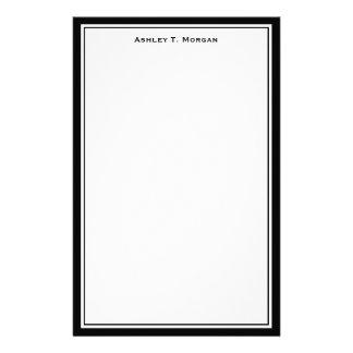 Efectos de escritorio personalizados blanco negro personalized stationery