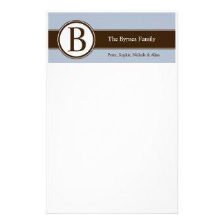 Efectos de escritorio personalizados de la familia papelería