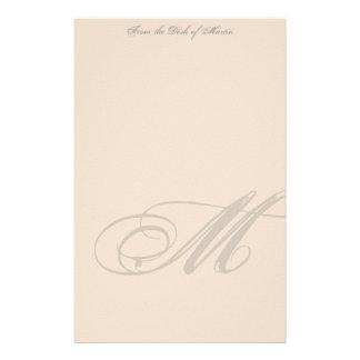 Efectos de escritorio personalizados del monograma papelería de diseño