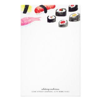 Efectos de escritorio personalizados del sushi del  papeleria de diseño