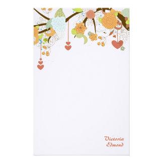 Efectos de escritorio personalizados florales de papelería