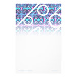 Efectos de escritorio púrpuras abstractos papelería de diseño