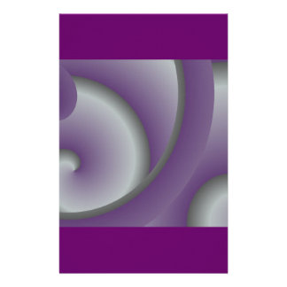 Efectos de escritorio púrpuras del calamar papelería personalizada