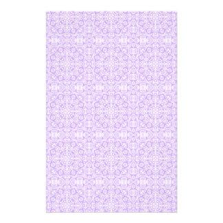 Efectos de escritorio púrpuras en colores pastel d  papeleria