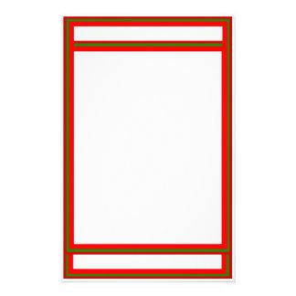 Efectos de escritorio que entrelazan del rubí y de papeleria personalizada