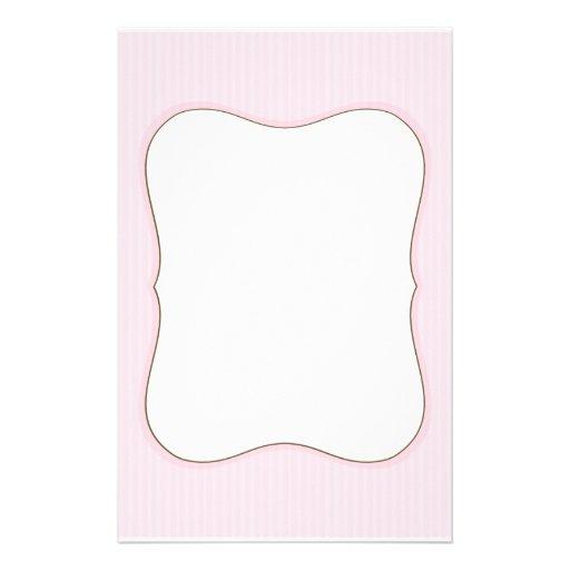 efectos de escritorio rayados rosados papeleria