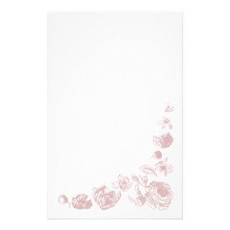 Efectos de escritorio retros de las flores papelería