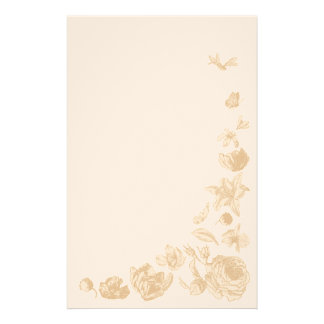 Efectos de escritorio retros de las flores papeleria