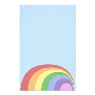 Efectos de escritorio retros del arco iris papeleria personalizada